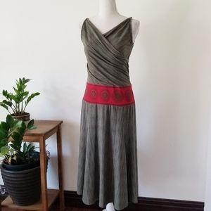 BCBGMaxAzria Olive Green A-Line Midi Dress S